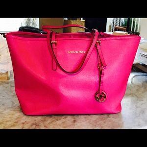 Michael Kors hot pink tote